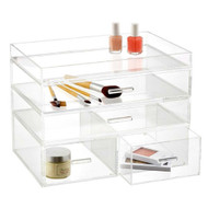 OnDisplay 4 Tier London Acrylic Cosmetic/Makeup Organizer