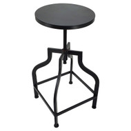 Set of 2 Bristol Retro Steel Rotating Adjustable Height Barstool - Black