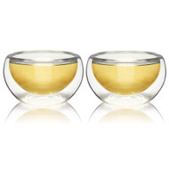 Set of 2 Teaology Luna Double Wall Borosilicate Tea/Espresso Cups