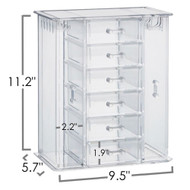 OnDisplay Acrylic Jewelry Cabinet Organizer - 6 Drawer Tiered Design - Perfect for Vanity, Bathroom Counter, or Dresser