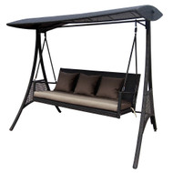 Modern Home Island Breeze Swinging Sofa Bench - Mocha Brown