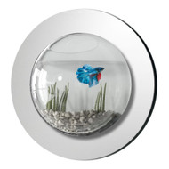 Modern Home Reflection Fish Bubble - Deluxe Mirrored Wall Mounted Fish Tank