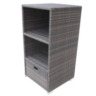 Modern Home Spa Resort Woven Wicker Towel Valet - ESPRESSO BROWN