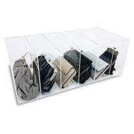 OnDisplay Deluxe Acrylic 6 Slot Purse Organizer