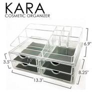OnDisplay Kara Deluxe Tiered Acrylic Cosmetic/Jewelry Organizer