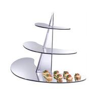 OnDisplay Acrylic Display Rack/Stand - 3 Tiered Mirrored Shelf