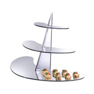 OnDisplay Acrylic Display Rack/Stand - 3 Tiered Mirrored Shelf