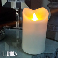 "Modern Home Illumina Flameless Pillar Candle w/Moving Wick - 5"" Ivory"