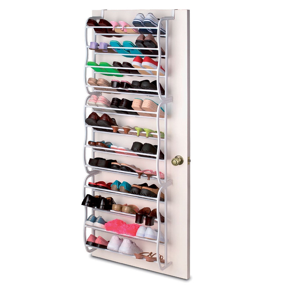 ... OnDisplay Over The Door Shoe Rack Tower (up To 36 Pairs). Image 1