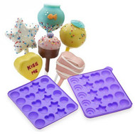 Cake Pops Shapes Instant Silicone Baking Pan Set - Complete Easy-to-Use Food Grade Silicone Cake Batter Tray