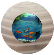 Aussie Aquariums Wall Mounted Aquarium - Porthole Silver