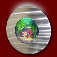 Aussie Aquariums Wall Mounted Aquarium - Porthole Silver