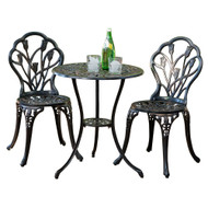 Modern Home Coventry Cast Aluminum Tulip 3pc Bistro Set
