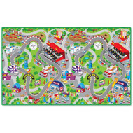 PlayScapes Portable Instant Children's Floor Play Mat - Racetrack