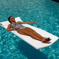 "California Sun Deluxe 1.625"" Thick Oversized Unsinkable Foam Cushion Pool Float - Pure White"