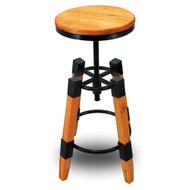Set of 2 Wyland Rustic Contemporary Wood/Steel Barstool