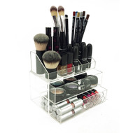 Brittney Acrylic Deluxe 2-Drawer Tiered Cosmetic/Makeup Organizer