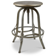 Set of 2 Chester Retro Steel Rotating Adjustable Height Barstool - Pewter