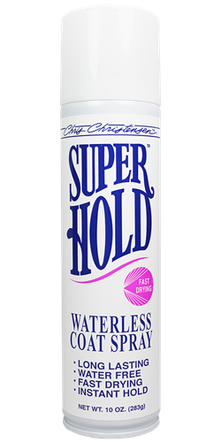 Chris Christensen - Super Hold Waterless Coat Spray, 10 oz Aerosol