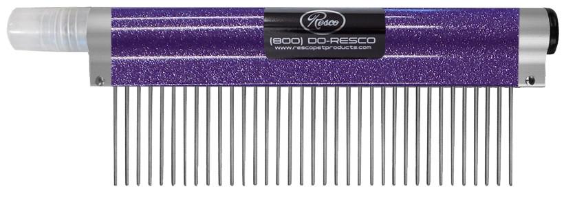 Resco - Spritzer Comb - Medium, 1.5 pins, Sparkle Purple