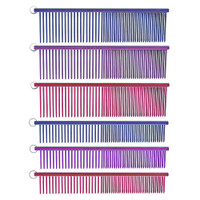 Resco Crystal Colored Anti Static Combination Combs