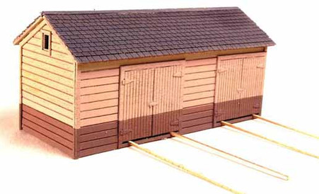 HO-Scale NP Tool Shed-Double Bay