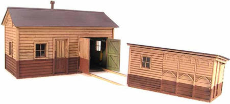 N-Scale Motor Car & Fuel Shed Combo