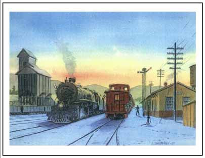 NP 4015 at Easton WA Winter Cards