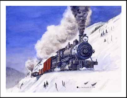 NP 501 on Stampede Switchbacks Winter Card
