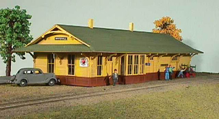 N-scale NP Class A One Story Depot