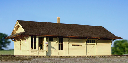 HO-scale NP Class C One Story Depot
