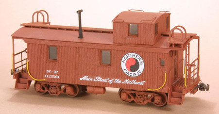 HO-scale NP 1200 Series Wood Caboose