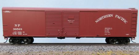 Bowser 50 ft, double sliding door, round roof, PRR X31 designed boxcar.