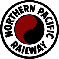 Northern Pacific 8-inch Round Monad Sign