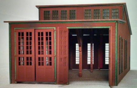 NP 2-Stall Wood Standard 90' Engine House