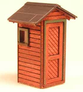 HO-Scale NP Trackside Phone Booth