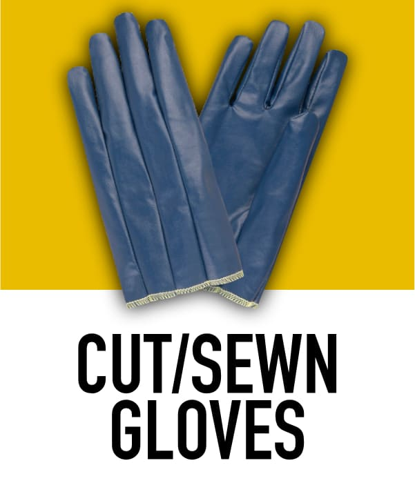 Cut and Sewn Rubber Gloves