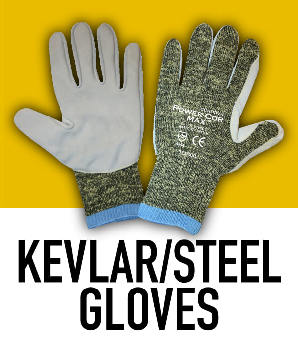Kevlar and Steel Cut Resistant Gloves
