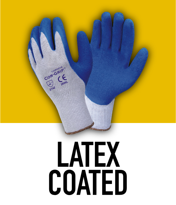 Machine Knit Latex Coated Gloves
