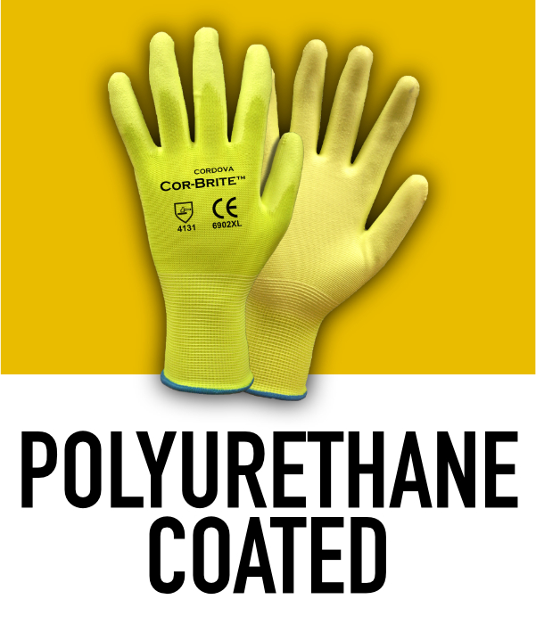 Machine Knit Polyurethane Coated Gloves