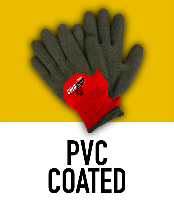 Machine Knit PVC Coated Gloves