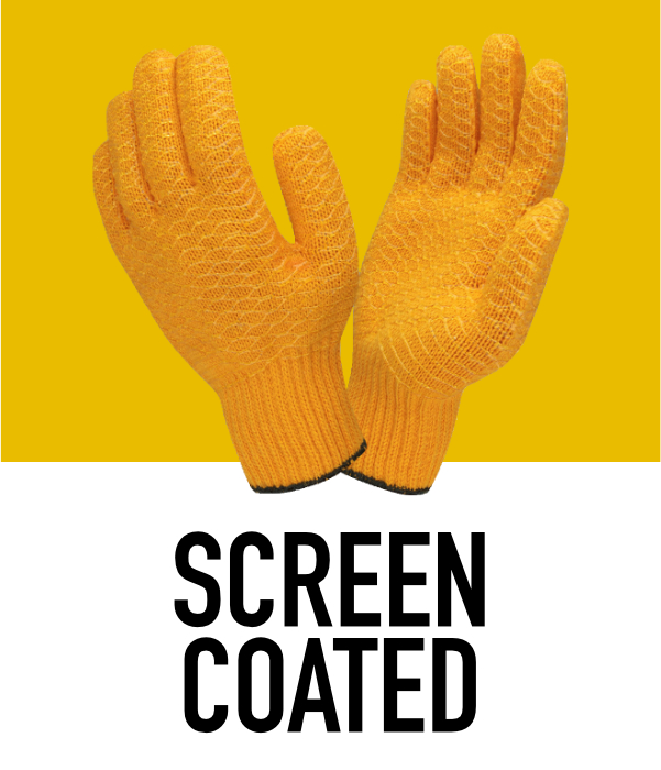 Machine Knit Screen Coated Gloves