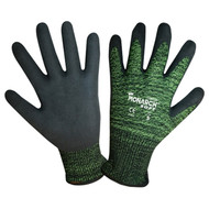 Cordova Monarch SOFT™ Black/Green TAEKI5® Gloves, 13-Gauge, Plyurethane Coating, Cut Level 4 (Pair)