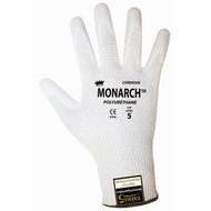 Cordova Monarch PU™ White TAEKI5® Gloves, 13-Gauge, Polyurethane Coating, Cut Level 3 (Pair)
