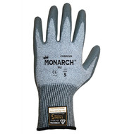 Cordova Monarch PU™ Gray TAEKI5® Gloves, 13-Gauge, Polyurethane Coating, Cut Level 3 (Pair)