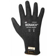 Cordova MONARCH-NRL™ Black TAEKI5® Gloves, 13-Gauge, Black Latex Coating, Cut Level 5 (Pair)