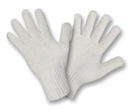 Machine Knit Gloves, Heavy Wegiht, Leather Palm, Kevlar® Sewn