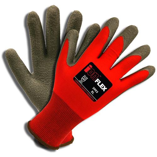 Cordova iON FLEX™ Hi-Vis Red Gloves, 13-Gauge, Latex Palm (Dozen)
