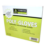 Cordova Low Density Polyethylene Gloves, 1.25-MIL, Embossed Grip (Case of 10,000)