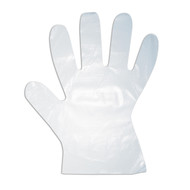 High Density Polyethylene Gloves, 1-MIL, Embossed Grip